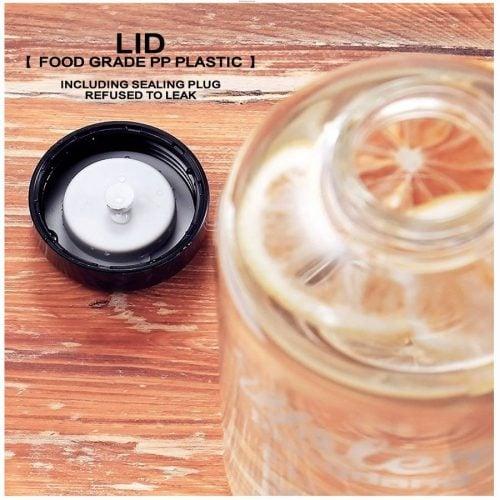 Bouteille d'eau en verre avec couvercle 0.6L/1.0L 4