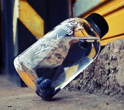Bouteille d'eau en verre avec couvercle 0.6L/1.0L 7
