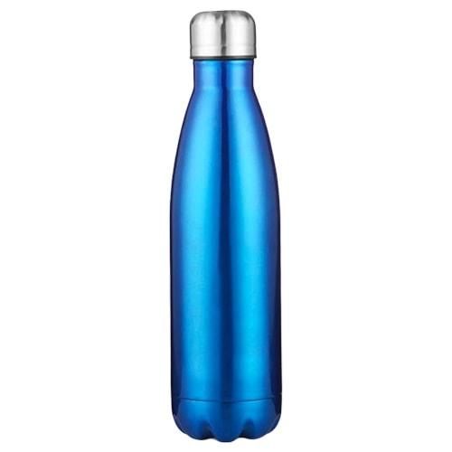 Gourde inox 500 ml en acier inoxydable (Bleu 500 ml)