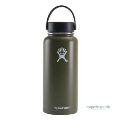 Bouteille d'eau en acier inoxydable Hydro Flask Vert militaire