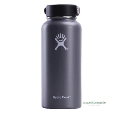 Bouteille d'eau en acier inoxydable Hydro Flask gris