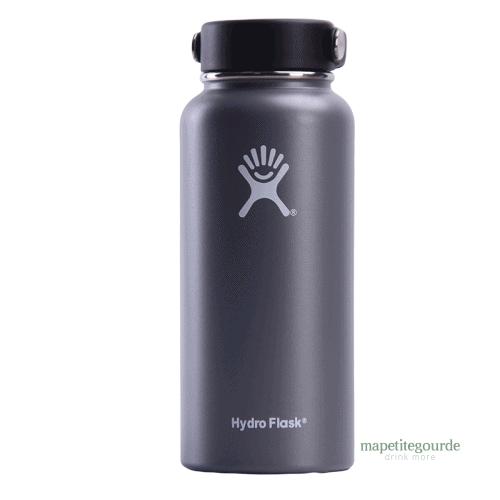 Gourde inox en acier inoxydable Hydro Flask gris