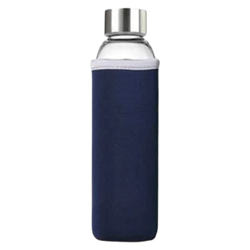 Bouteille d'eau en verre bleu