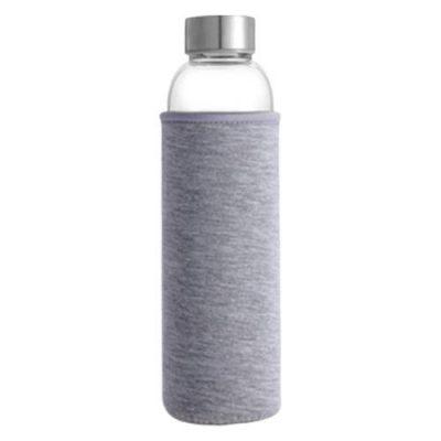 Bouteille d'eau en verre gris