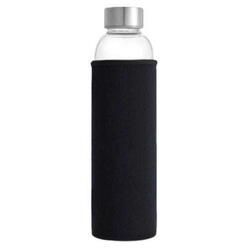 Bouteille d'eau en verre noir