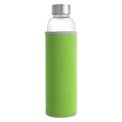 Bouteille d'eau en verre vert