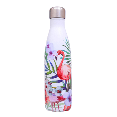Gourde inox sans BPA en acier inoxydable Flamand Rose (Flamand Rose 500 ml)