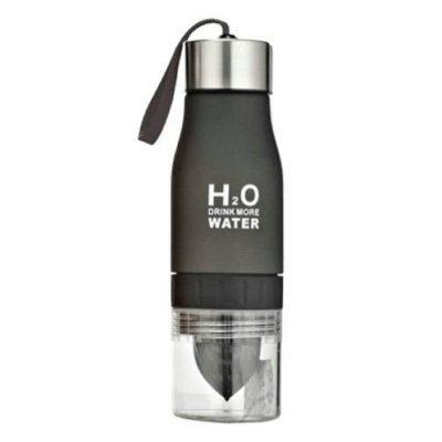 Gourde H2O avec infusion (Noir 650 ml)