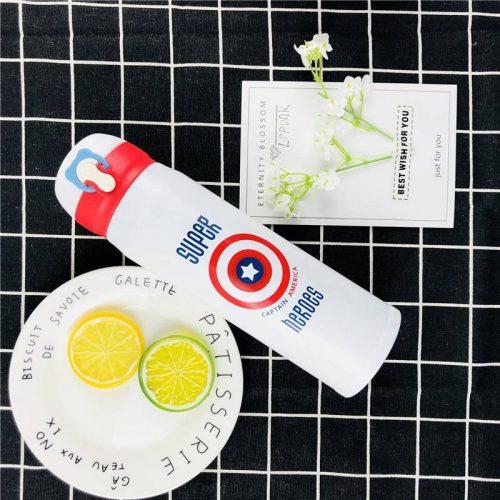 Gourde inox isotherme Super Hero (Blanc Captain America 500 ml)