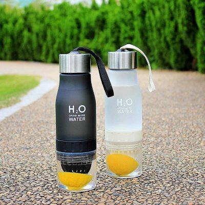 Gourde H2O avec infusion (Jaune 650 ml)