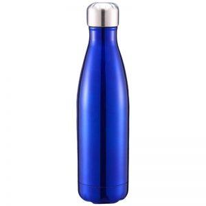 Gourde inox isotherme sans BPA réutilisable (Bleu foncé 500 ml)