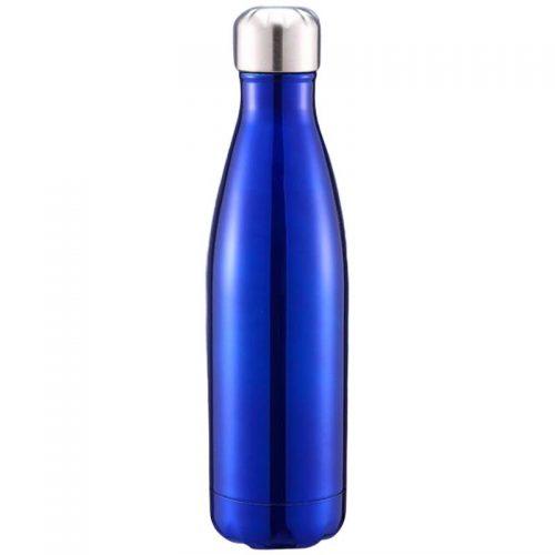 Gourde inox isotherme sans BPA réutilisable Bleu foncé 500 ml