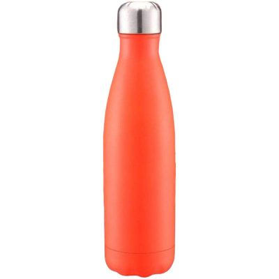 Gourde inox isotherme sans BPA réutilisable (Orange 500 ml)
