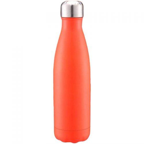 Gourde inox isotherme sans BPA réutilisable (Orange 500 ml)