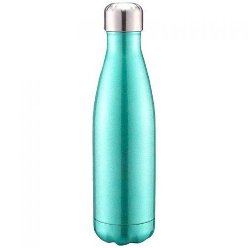 Gourde inox isotherme sans BPA réutilisable (Bleu-vert 500 ml)
