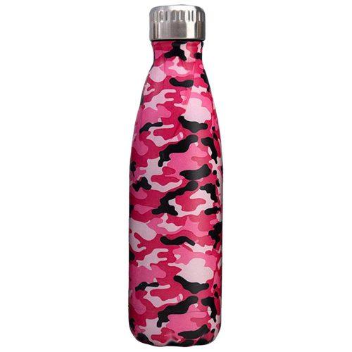Gourde inox isotherme sans BPA réutilisable Camouflage rouge 500 ml
