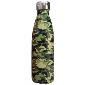 Gourde inox isotherme sans BPA réutilisable (Camouflage vert 500 ml)