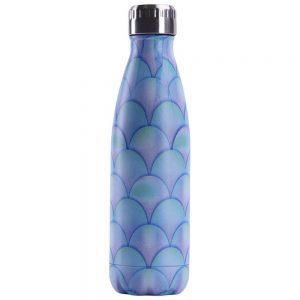 Gourde inox isotherme sans BPA réutilisable (Créatif violet bleu 500 ml)
