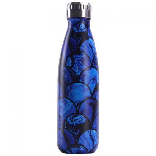 Gourde inox isotherme sans BPA réutilisable (Créative bleu foncé 500 ml)