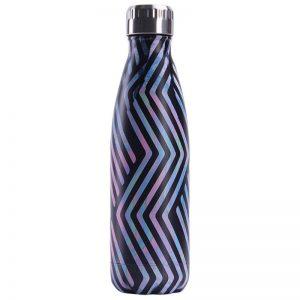 Gourde inox isotherme sans BPA réutilisable (Créative zigzag 500 ml)