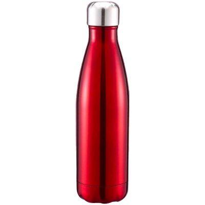 Gourde inox isotherme sans BPA réutilisable (Rouge 500 ml)