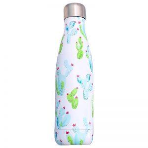 Gourde inox sans BPA réutilisable (Cactus 500 ml)