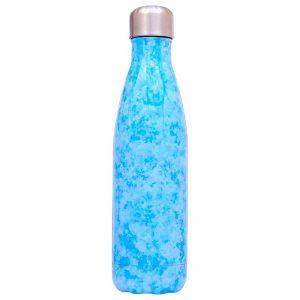 Gourde inox sans BPA réutilisable (Peinture bleu 500 ml)