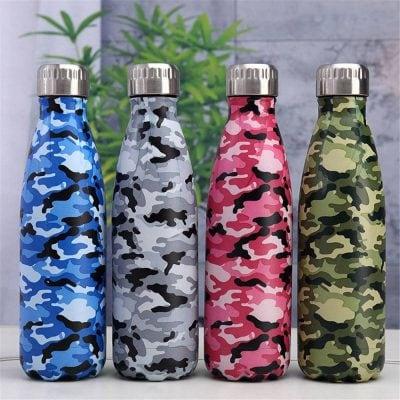 Gourde inox isotherme sans BPA réutilisable camouflage