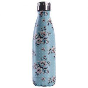 Gourde inox isotherme sans BPA réutilisable (Florale bleu ciel 500 ml)
