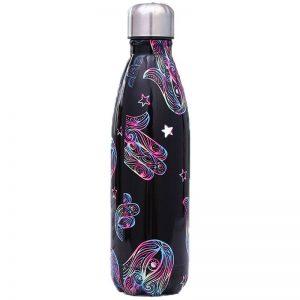 Gourde inox isotherme sans BPA réutilisable (Main colorée 500 ml)