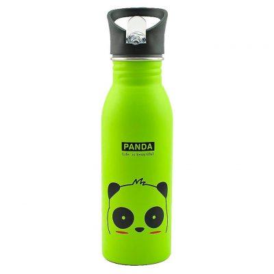Gourde inox pour enfant 500 ml (Vert Panda)