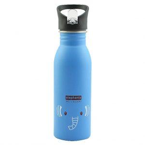 Gourde inox pour enfant 500 ml (Bleu Éléphant)