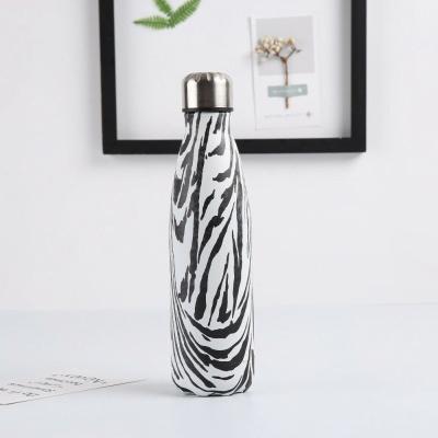 Gourde inox isotherme sans BPA réutilisable (Zebre 500 ml) Gourde inox