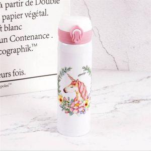 Gourde inox pour enfant 500 ml (Licorne Blanc 500 ml)