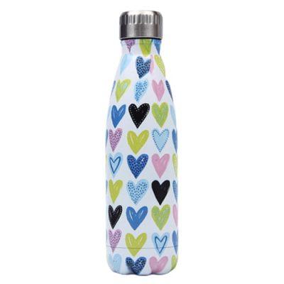Gourde inox isotherme sans BPA réutilisable (Coeur Multicolor) Gourde inox