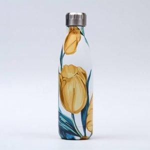 Gourde inox isotherme sans BPA réutilisable (Tulipe)
