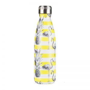 Gourde inox isotherme sans BPA réutilisable (Ananas Flamant 500 ml)