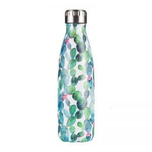 Gourde inox isotherme sans BPA réutilisable (Cactus 500 ml)