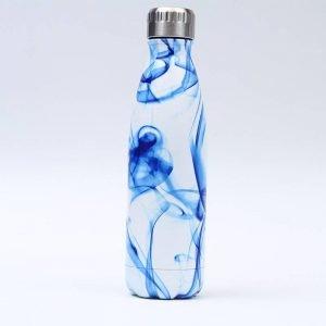 Gourde inox isotherme sans BPA réutilisable (Fumée Bleue)