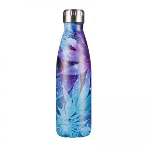 Gourde inox isotherme sans BPA réutilisable (Cannabis Bleu 500ml)