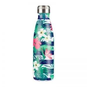 Gourde inox isotherme sans BPA réutilisable (Florale 500 ml)