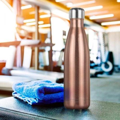 Gourde inox isotherme sans BPA réutilisable Rose Gold 500 ml 4
