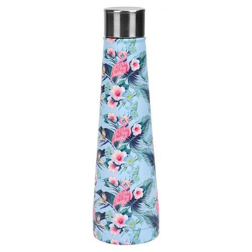 Gourde inox sans BPA réutilisable Flamant rose fleuri 500 ml
