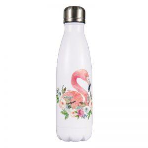 Gourde inox isotherme sans BPA réutilisable (Flamant Rose 500 ml)