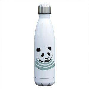 Gourde inox isotherme sans BPA réutilisable (Panda 500 ml)