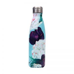 Gourde inox isotherme sans BPA (Florale 500 ml)