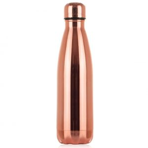 Gourde inox isotherme personnalisable Rose Gold
