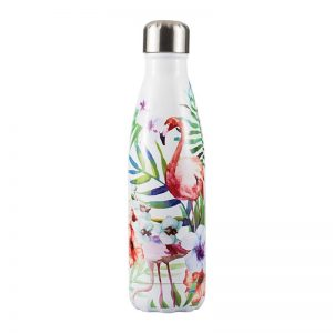 Gourde inox isotherme 500 ml (Flamant rose)