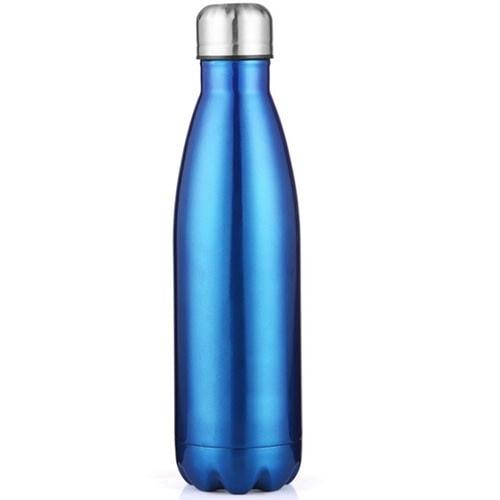 Gourde inox isotherme sans BPA Bleu