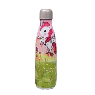 Gourde inox licorne isotherme 500 ml
